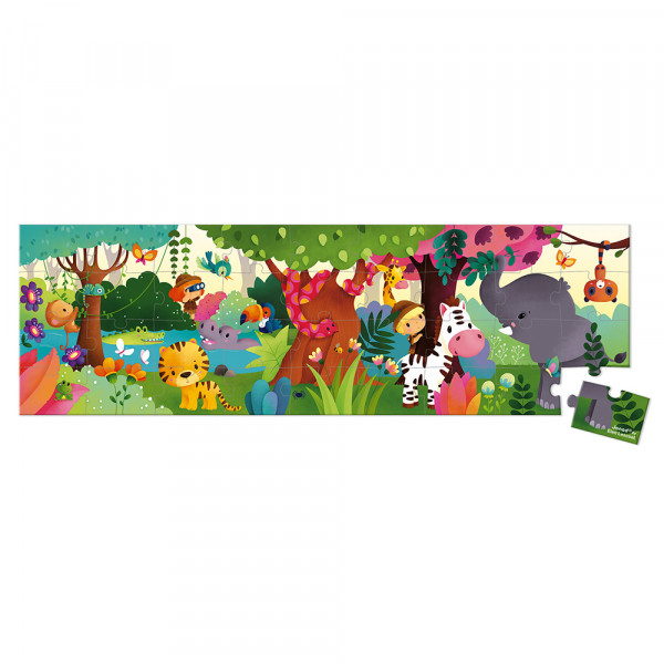 Puzzlekoffer Panorama-Puzzle Dschungel 36 Teile