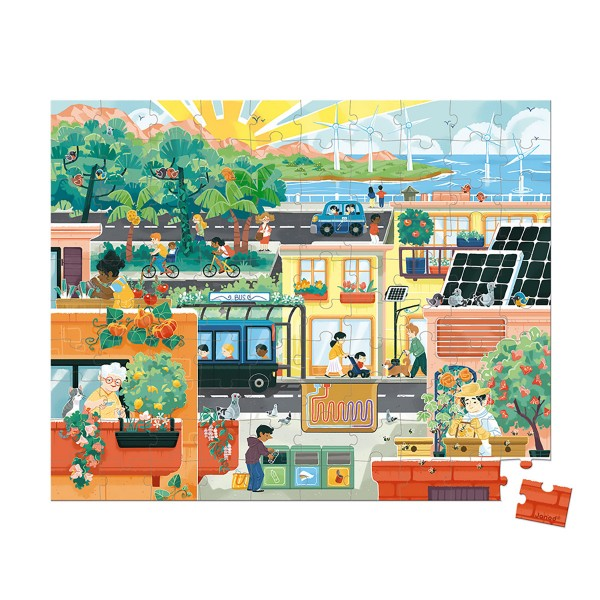 Janod-WWF® Puzzle Green City 100 Teile